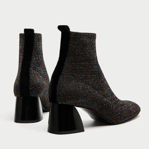 Zara Sparkle Boots EUC 36